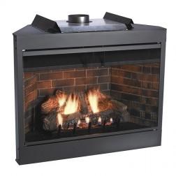 "Empire BVP42FP70LN Keystone Premium B-Vent Nat-Gas 42"" IP Fireplace / Louvers"