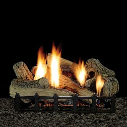 "Empire LX24CF 7-piece 24"" Canyon Ceramic Fiber Log Set"