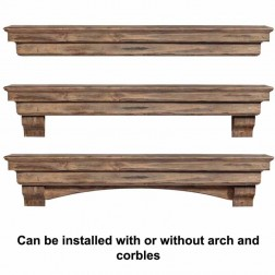 Pearl Mantels The Celeste Pine Shelf