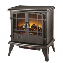 Comfort Glow EQS130  The Keystone Electric Stove  Black w/Quartz