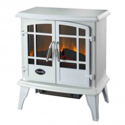 Comfort Glow EQS134  The Keystone Electric Stove Contemporary White w/Quartz