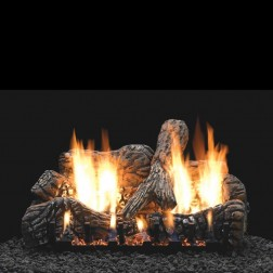 "Empire LS24C2 4-piece 24"" Charred Oak Ceramic Fiber Log Set"