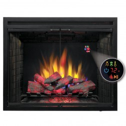 "Classic Flame 39EB500GRS 39"" LED Black Builders Electric FireBox w/Swinging Doors"