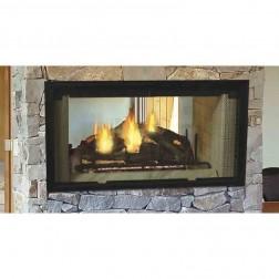 "Majestic DSR42 Designer Series 42"" See-Thru Radiant Wood Burning Fireplace"