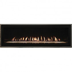 "Empire DVLL60BP90N Boulevard 60"" Direct-Vent Linear Contemporary Nat-Gas Fireplace"
