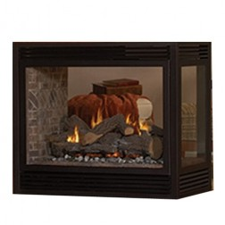 "Empire DVP36SP32EP Tahoe Premium Direct-Vent 36"" Propane See-Thru Fireplace"