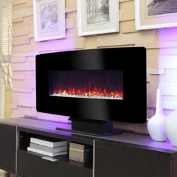Pleasant Hearth Electric Wall Mount Fireplace-MCH35BL