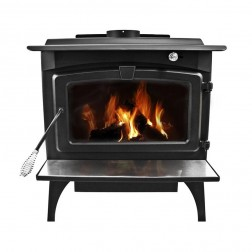 Pleasant Hearth Large Wood Burning Stove with Legs LWS-130291