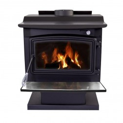 Pleasant Hearth Large Wood Burning Stove with Pedestal Base WS-3029