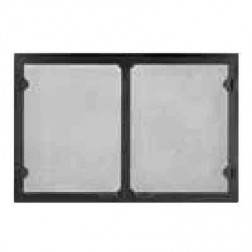 Majestic GV60BK Grand Vista Cabinet Style Mesh Door Black For SB60
