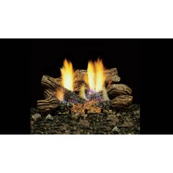 "Majestic BOCL24 24"" Fiber Ceramic 6 pc Blazing Oak Log Set"