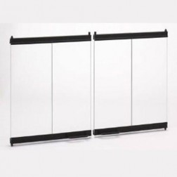Majestic DM1036 Original Bi-fold Glass doors  Black w/ Black Track for 36