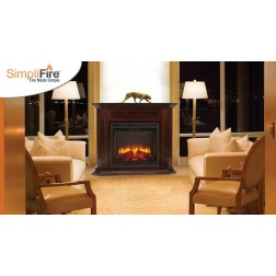 "Majestic SF-BI36-E SimpliFire 36"" Built inTraditional Style Electric Fireplace"