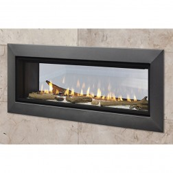 "Majestic Echelon II 48"" NG See Through Direct Vent Fireplace ECHEL48STIN"