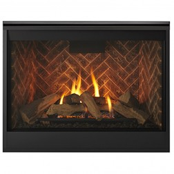 "Majestic Meridian 36"" Top/Rear Direct Vent NG Fireplace-DBDV36IN"