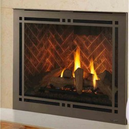 "Majestic Meridian Platinum 36"" Top/Rear Direct Vent NG Fireplace-DBDV36PLATIN"