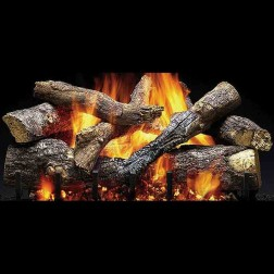 "Majestic 24"" Fireside Grand Oak gas log set with IPI hearth kit (LP)-GO24-IPI-LP"