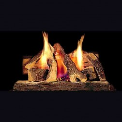 "Majestic 24"" Campfire fiber Gas log set w/SS Brner & hearth kit(LP) CFL-24LP-C"