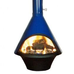 Malm Lancer Wood Burning Fireplace, Matte Black or Porcelain Colors