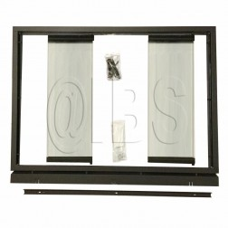 Majestic GDB48 Black Full Framed Glass Door with Slide Opening for SB38