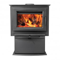 Napoleon S4 Medium Wood Burning Stove w/Pedestal Base-Painted Black