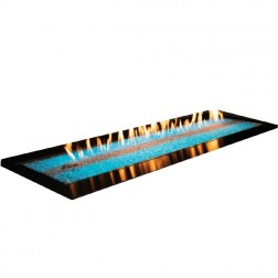 """Empire OL60TP18N Outdoor Linear 60"""" Stainless Steel Nat-Gas Fire Pitw/ LED Lighting System"""