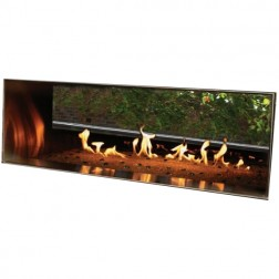 "Empire OLL48SP12SN Outdoor Stainless Steel See-Thru Linear 48"" Nat-gas Fireplace w/Pushbutton Manual Ignition"