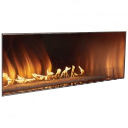 "Empire OLL60FP12SP Outdoor Stainless Steel 60"" Propane-LP Linear Fireplace w/Pushbutton Manual Ignition"