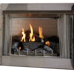 "Empire OP42FP32MP Outdoor Stainless Traditional Premium 42"" LP Fireplace-On/Off MV"