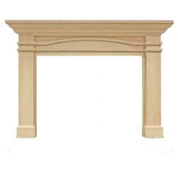 Majestic Portico Flush Mantel, Unfinished Maple-AFPOAUB
