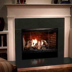 "Majestic RBV4236IH Reveal 36 36"" Open Hearth B-Vent Gas Fireplace radiant unit with IntelliFire"
