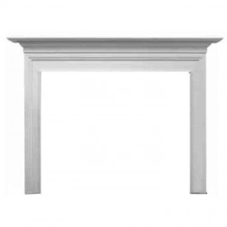 Majestic Richland Flush Mantel, Primed MDF, Reduced Shelf width-AFRDMPRS