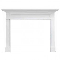 "Majestic Roxborough 44"" Flush Mantel, Unfinished Maple-AFRHAUA"