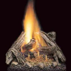 """Majestic VWF36/30SRO 36"""" Split River Oak 8 -piece Refractory Log Set with Burned-Out areas"""