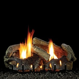 "Empire LS24SRAO 8-piece 24"" Stacked Aged Oak Refractory Log Set"