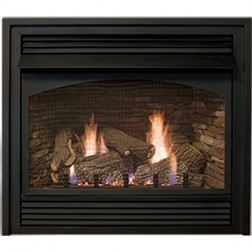 "Empire VFP32BP21LP Vail VF LP 32"" Premium Fireplace/ Modltng Hydalc Thrmst & Blower"