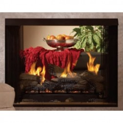 "Empire VFP36SB2EL Premium VF 36"" See-Thru Firebox /Louvered & Liner"