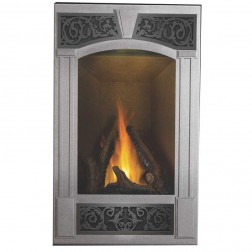 Napoleon GD19-1NSB Vittoria top/rear vent Natural gas fireplace w/black door