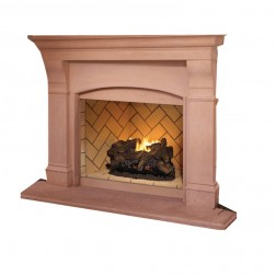 "IHP Superior VRT6050RS 50"" Warm Red Stckd Brck VF Firebox"