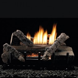 "Empire VFDT30LBWN Whiskey River Refractory 30"" Log Set w/Thermostat Vent-Free NG Burner"