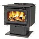Napoleon Timberwolf Economizer 2100/2200 Wood Burning Stove c/w door painted black