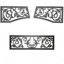 Napoleon VOIK Victorian ornamental insets, upper & lower painted metallic black