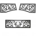 Napoleon VOISS Victorian ornamental insets, upper & lower brushed stainless steel