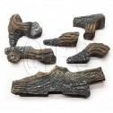"Majestic BOCL24 24"" Fiber Ceramic 6 pc Blazing Oak Log Set"