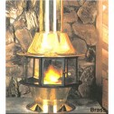 Malm Spin-A-Fire Wood Burning or Gas, Matte Black or Porcelain Colors Fireplace