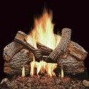 "Majestic VWF18MOST 18"" Massive Oak See-Thru 9-piece Refractory Log Set with Burned-Out areas"