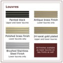 Napoleon CL28SS Louvres and acrylic trim (Satin chrome plated)