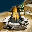 Napoleon Fireplaces GPF Outdoor PatioFlame Stainless Steel Firepit