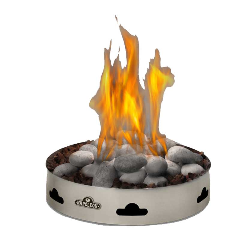 Napoleon Gpfgn 2 Outdoor Patioflame Natural Gas Firepit W Topaz Gl